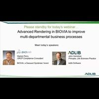 Webinar: Advanced Rendering in BIOVIA to Improve Multi-Departmental Business Processes