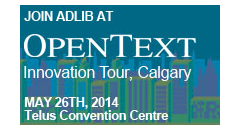 Live event: Adlib joins the OpenText Innovation Tour in Calgary Featured Image