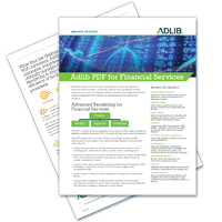 Datasheet: Adlib PDF For Financial Services