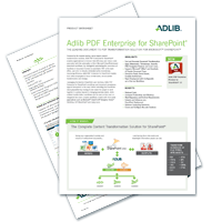 Datasheet: Adlib PDF Enterprise For SharePoint