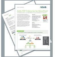 Datasheet: Adlib PDF Enterprise for SharePoint