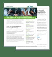Datasheet: Adlib PDF + Microsoft® SharePoint