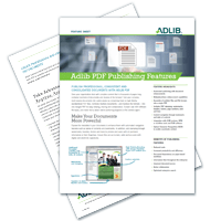 Adlib PDF Publishing Features