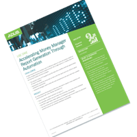 Accelerating Money Manager Report Generation Through Automation