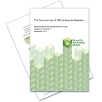 The Role and Use of PDF in Records Retention