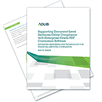 White Paper: Supporting SOX Compliance With Enterprise-Grade PDF Conversion Software