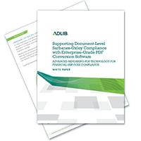 Supporting SOX Compliance with Enterprise-Grade PDF Conversion Software (White Paper)
