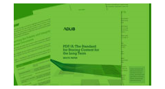 Enhanced archiving capability with Adlib and PDF/A Featured Image