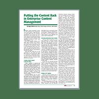 Putting Content Back In Enterprise Content Management