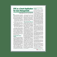 PDF As A Smart Application For Case Management