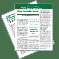 Effective Classification Techniques (White Paper)