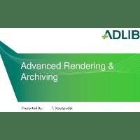 Adlib Presentation: Adlib at QUMAS Connect 2014: Advanced Rendering in Life Sciences