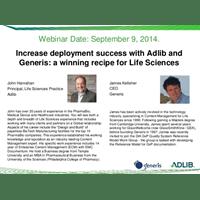 Webinar Presentation - Increase deployment success with Adlib and Generis: a winning recipe for Life Sciences