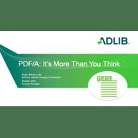 Webinar: PDF/A: it's more than you think