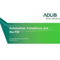Presentation:Automation, compliance, and the pdf