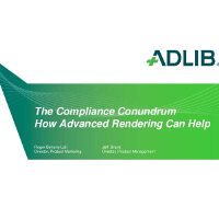 Webinar Presentation - The Compliance Conundrum - How Advanced Rendering Can Help