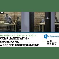 Webinar Presentation: Adlib + K2: Compliance Within SharePoint – A Deeper Understanding