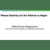 Webinar Presentation: Adlib Integration with Multiple Content Repositories