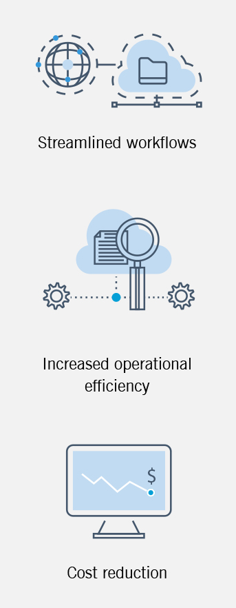 This graphic details some of the benefits of process automation.