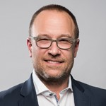 A head shot of Peter Duff, CEO Adlib Software