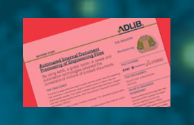 Use case: Automated internal document processing of engineering files