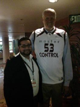 Mark Eaton NBA with Rupin Mago of Adlib